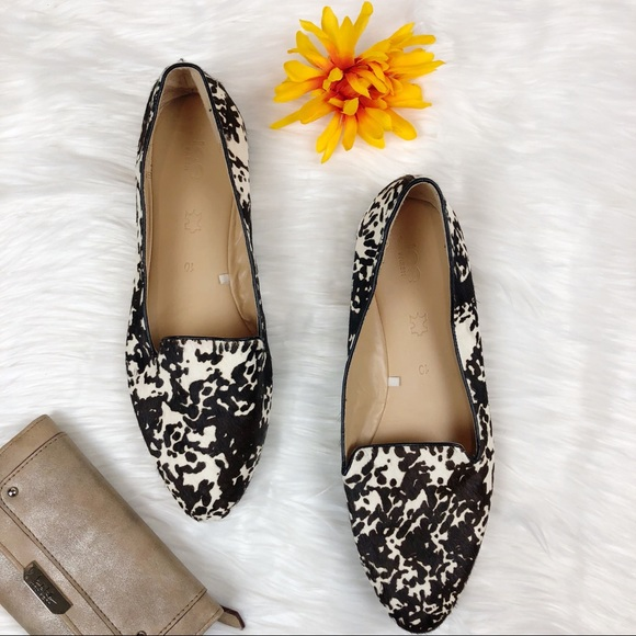 347f3bf69759e Joe Fresh Shoes - Joe Fresh Faux Cow Print Slip On Fur Flats Size 10
